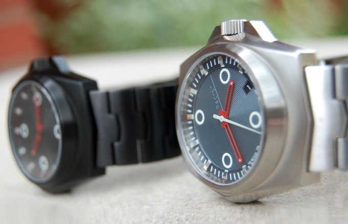 The Tessera as seen in both brushed stainless and PVD black