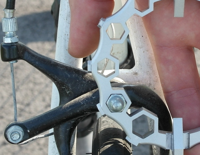 Figure 7: Close up of the hex wrench in use