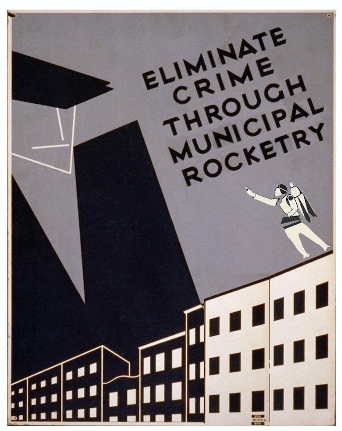 WPA Poster Featuring Rocketmen