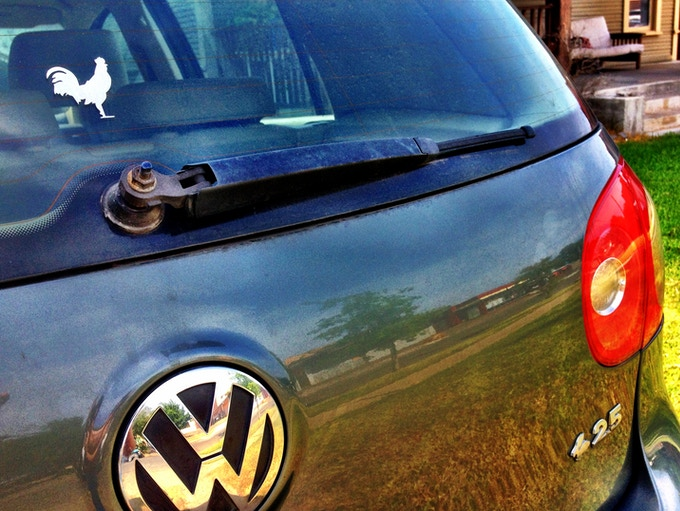 Placed Proudly on the VW Rabbit that Started it All!