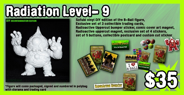 DIY blank edition of the 8-Ball figure is available for the FIRST time here on Kickstarter and will be produced in very limited quantity