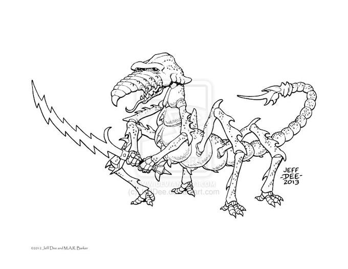Beasts of Tsolyanu by Jeff Dee —Kickstarter