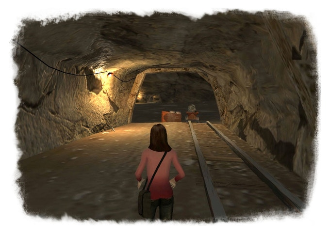 Pi explores a dark and deserted underground mine in search of a ghost.