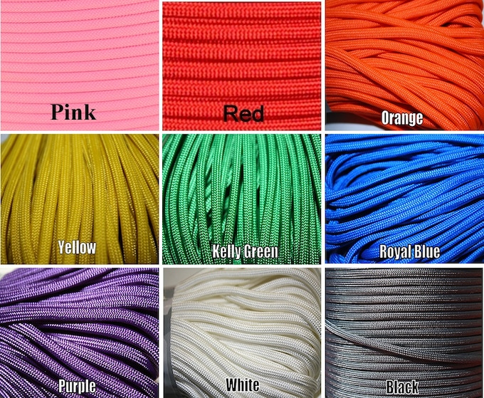 Sample Paracord Colors