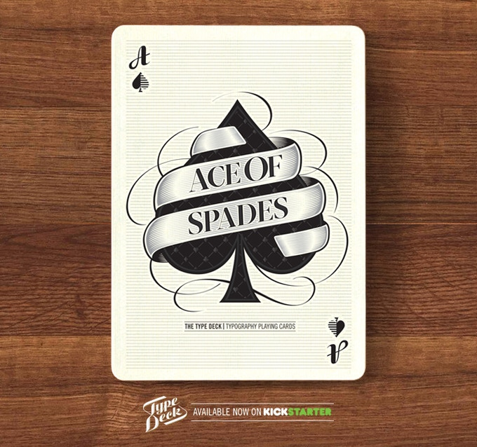 A mock up of the Ace of Spades.