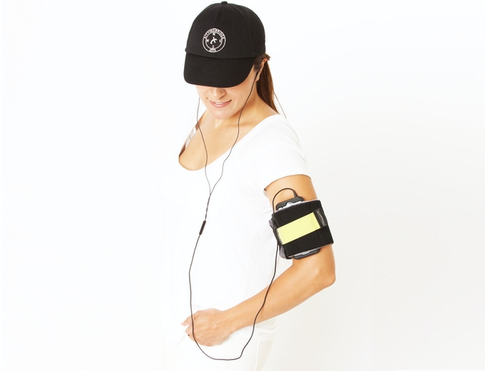 It securely holds your phone or other device on your arm.
