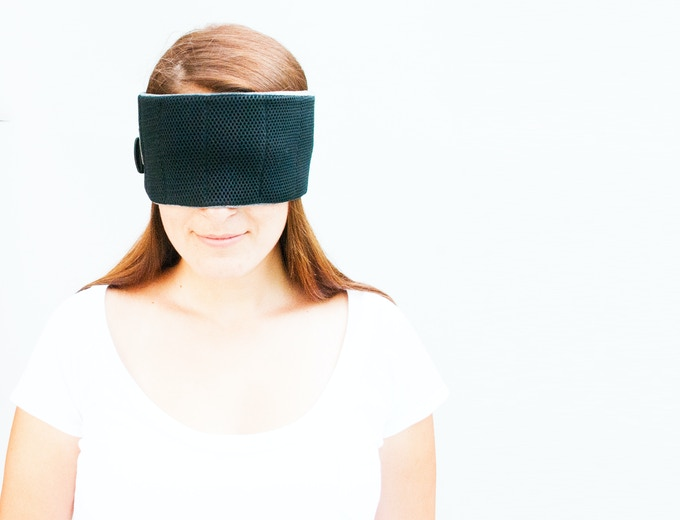 And, it's a soft and comfortable way to mask your eyes for sleep.