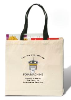 FOIA Machine Tote Bag