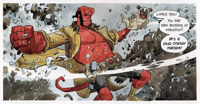 Jill's work from Beasts of Burden/Hellboy Crossover