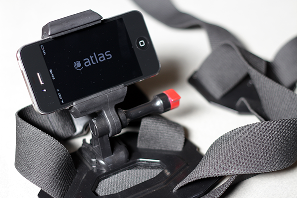 Atlas app on iPhone4s with chest mount