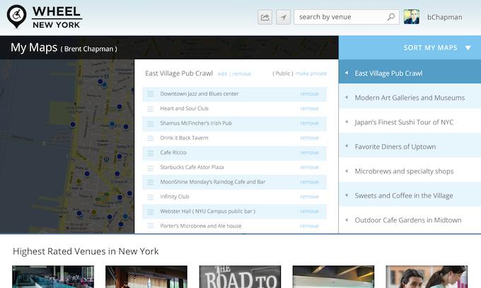 WheelNewYork.com Maps Functionality