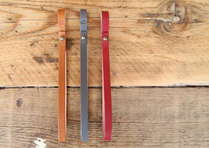 Buckitt Loop accessory - here in Tan, Grey & Wine