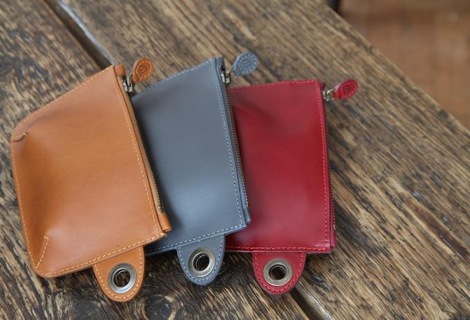 Buckitt Purse accessory - here in Tan, Grey & Wine