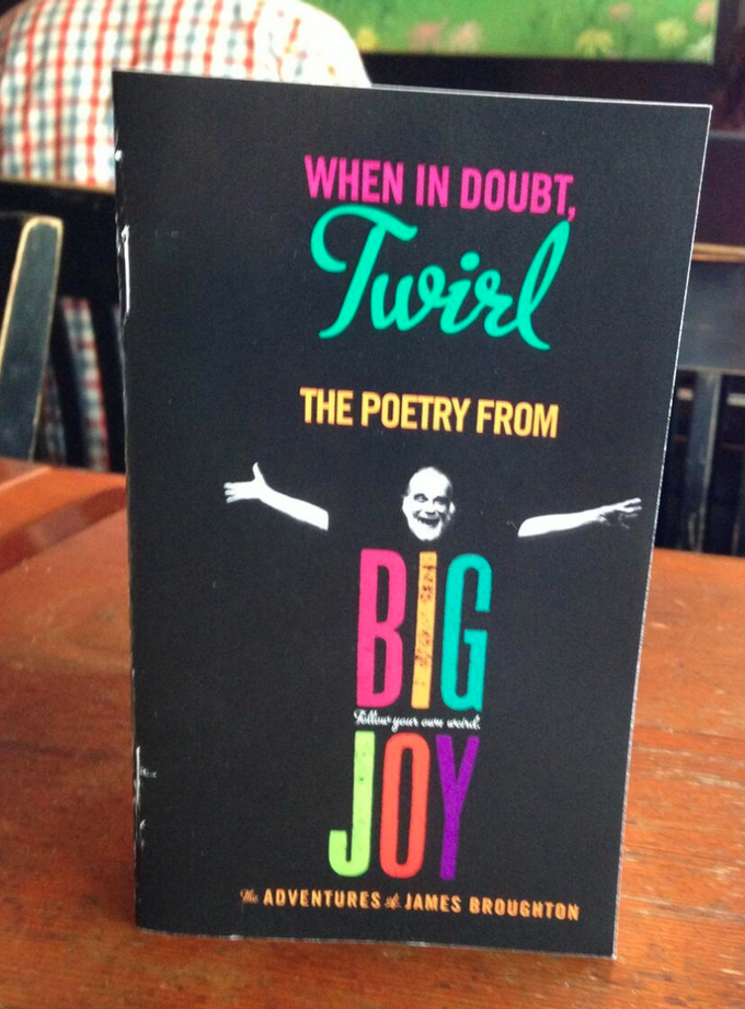 Special Edition James Broughton Chapbook of poetry