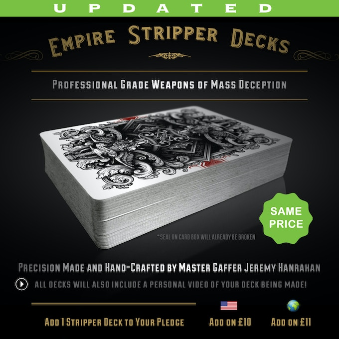 Updated Pricing for Stripper Decks - Click to enlarge