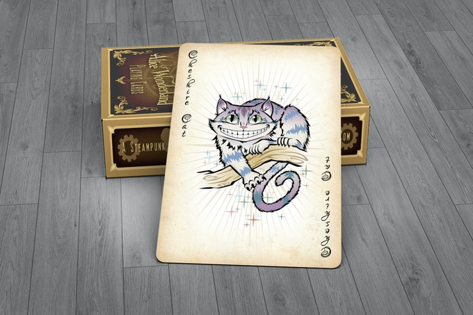 Cheshire Cat Joker Card - GOLD EDITION
