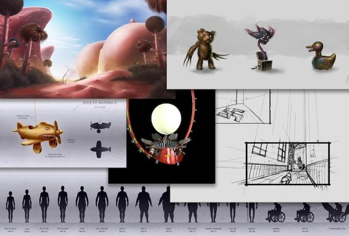 Get you hands on original artwork and storyboards from Deus Ex Machina 2