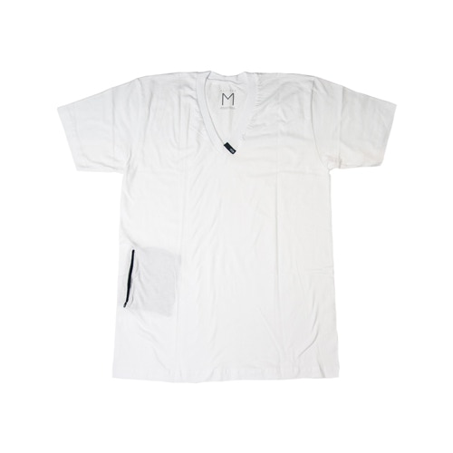 Absidee V Neck w/ Stash Pocket: Available in White or Heather Grey