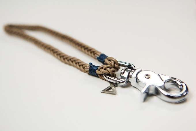 Absidee Hand Woven Keychain (Natural) w/ laser cut charms from Santa Barbara, CA