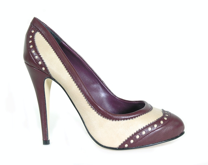 Adriana - ox blood faux leather