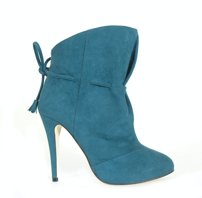 Manny - teal faux suede ALSO available in black faux suede