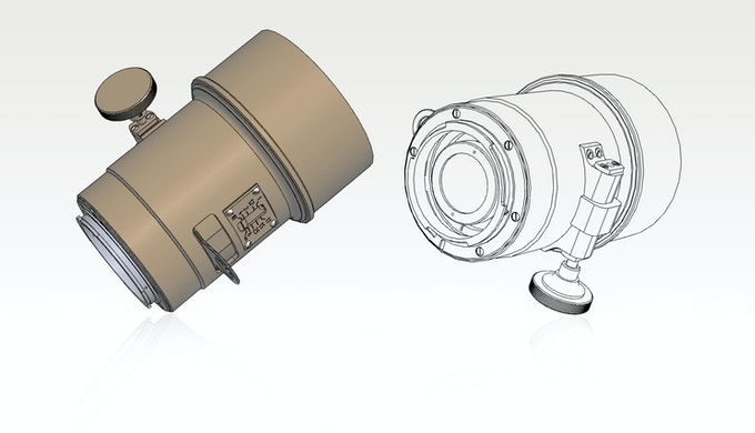 A Technical Drawing of the Lomography Petzval Lens