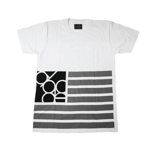 Ambition Flag Tee w/ Hidden Stash Pocket in White