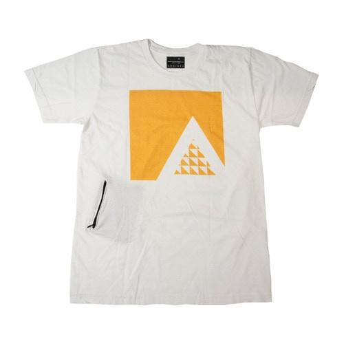 """Ambition """"A"""" Shirt in White w/ Hidden Stash Pocket"""