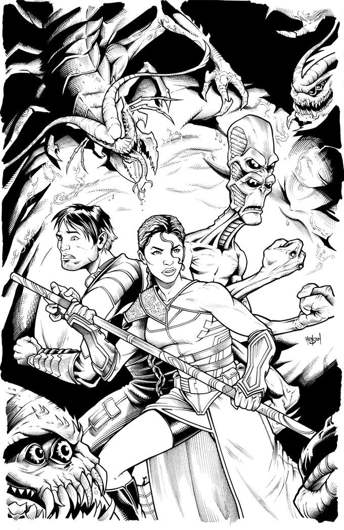 Eden #1 Cover (Pending Colors and Logo)