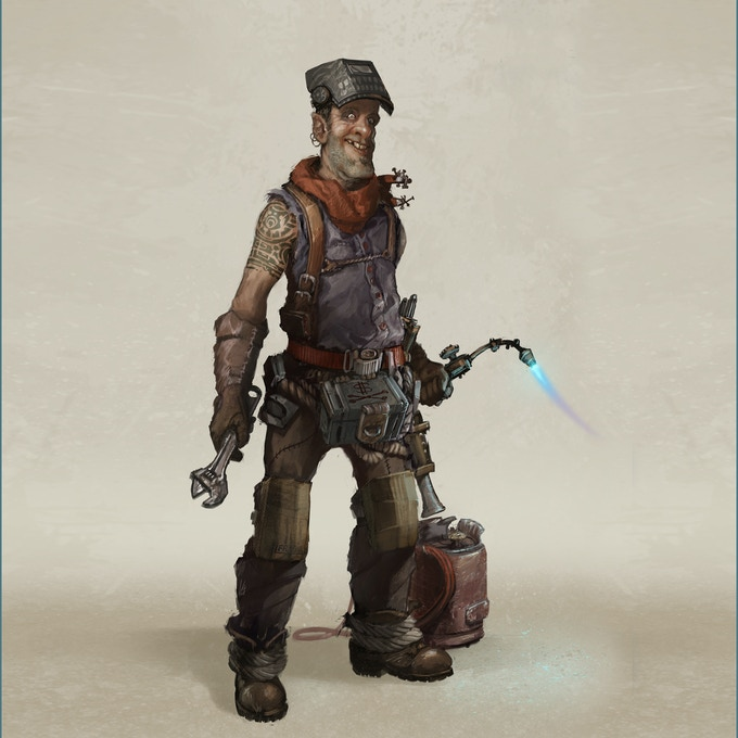 Pick your mechanic and make them trust you - concept by A.J. Garret