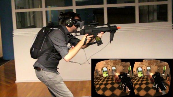 Atlas with Hydra on assault rifle replica