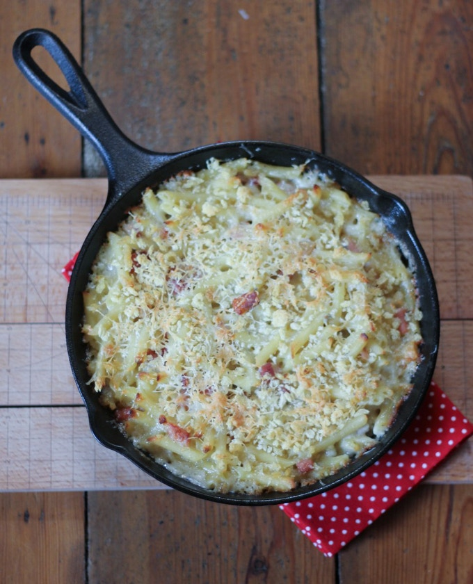 Bacon macaroni blue cheese - fierce and delicious