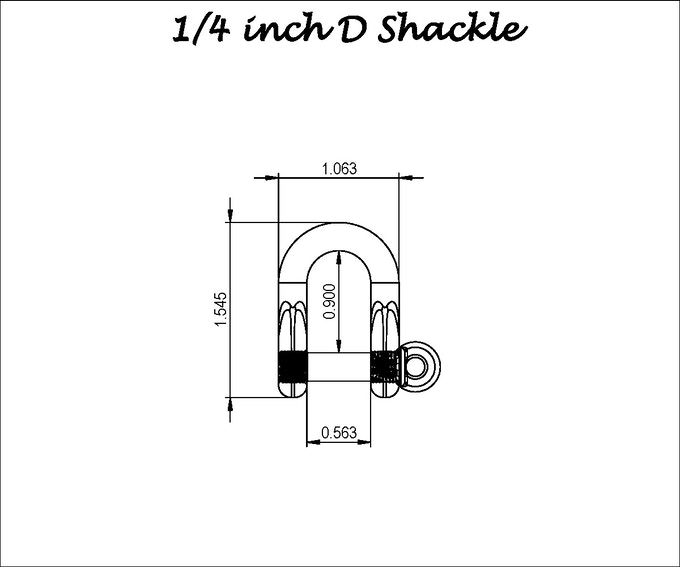 High Strength Titanium Locking D Shackle by Allied