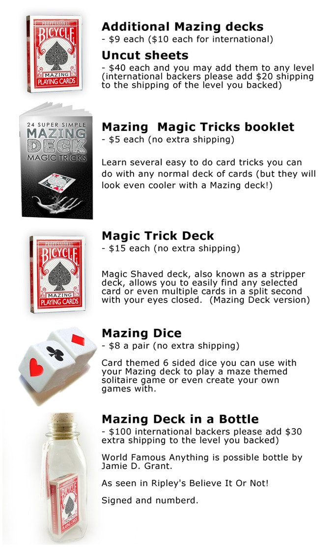 Mazing Deck - Playing Cards with a twist    and a turn  by