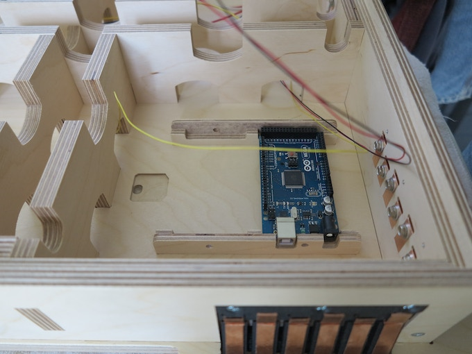 The Arduino in the tile substructure
