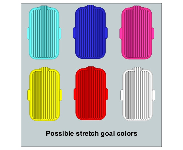 """Possible HOG Scrubber colors that could be pre-ordered, if the campaign goes into a """"stretch goal"""""""