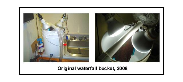 Original waterfall bucket algae scrubber from 2008