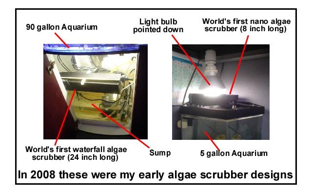 Early algae scrubber designs of mine in 2008