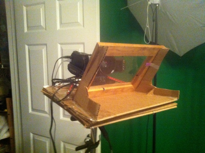 My home made teleprompter