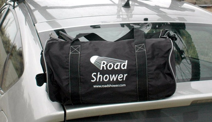 Road Shower duffel bag.