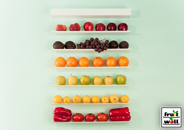 Fruit-Wall Small White painted aluminum