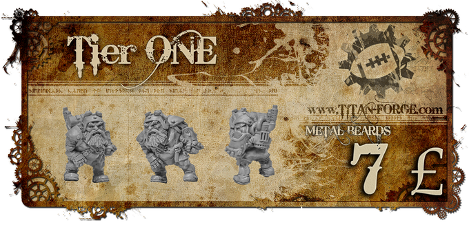"""1x Dwarven Engineer """"Grom"""". The headcoach of Steampunk Dwarfs. Support our campaign and receive a uniqe figure available only on Kickstarter."""