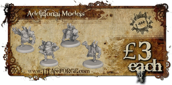 You can purchase Metal Beards models - £3 per one and up to 8 additional models per team.