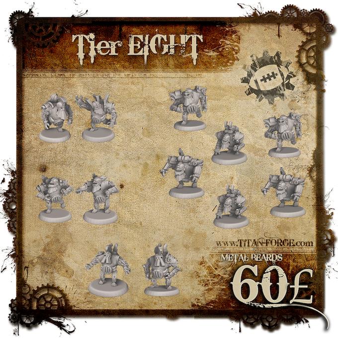 Full Steampunk Dwarfs team without Grinder (6x Blocker, 2x Runner, 2x Blitzer, 2x Crusher).