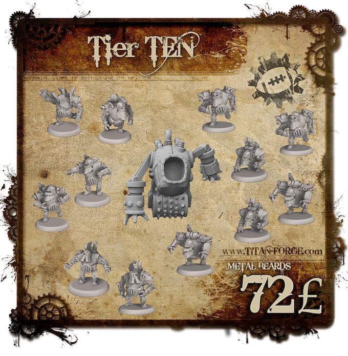 Full Steampunk Dwarfs Team (6x Blocker, 2x Runner, 2x Blitzer, 2x Crusher, 1x Grinder)