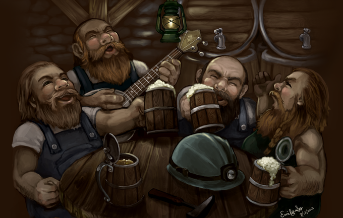Dwarves need ale and song at the end of every hard day!