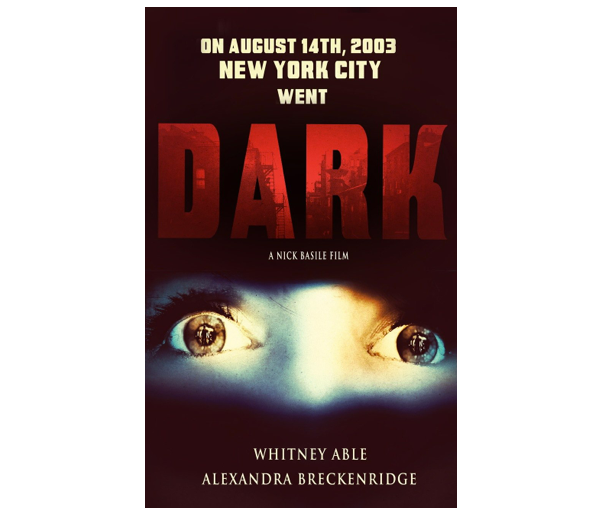 The official poster for DARK -- Become a backer at the $50 level and get your very own!