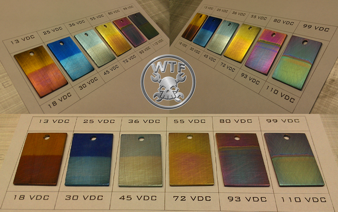 WTF COLOR CHART - (Stonewashed RAW Titanium is also an option.)