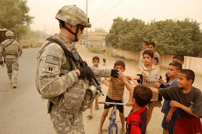 Shaun Wheelwright in Iraq
