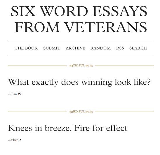 Screenshot from SixWordWar.com